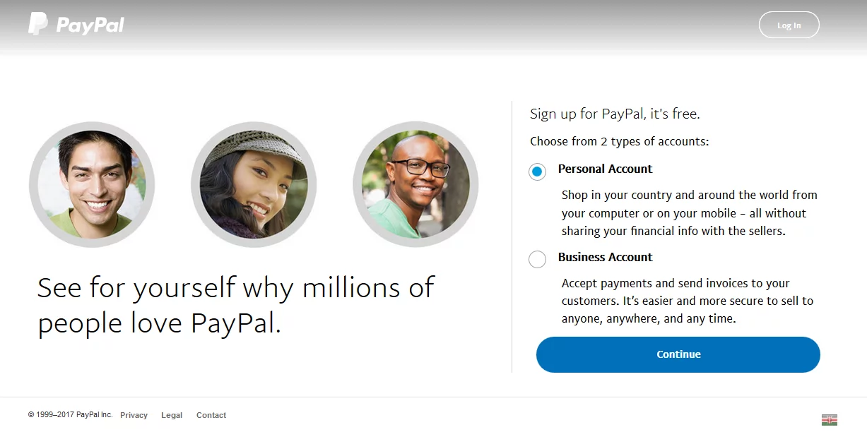 PayPal account in Kenya