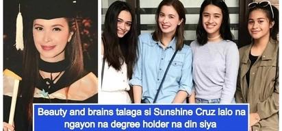 Sunshine Cruz posts throwback grad pics as she finally gets college diploma