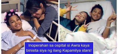 Awra Briguela rushed to the hospital for an operation; gets visited by Kapamilya stars