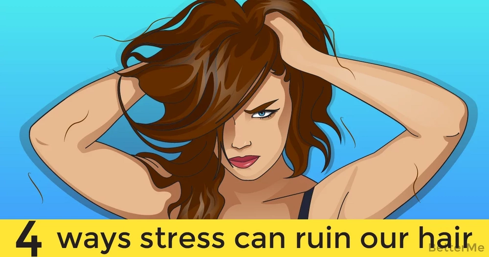 4 ways stress can ruin our hair