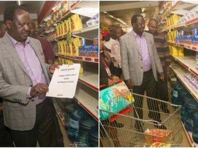 Raila's long lecture to Uhuru on shortage of Unga