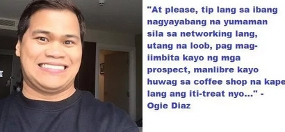 Dear networking people who brag on social media, Ogie Diaz has an open letter