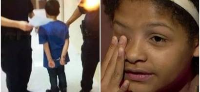 Outrage as police BODY-SLAM girl, 12, to the ground and handcuff boy, 7, (photos, video)