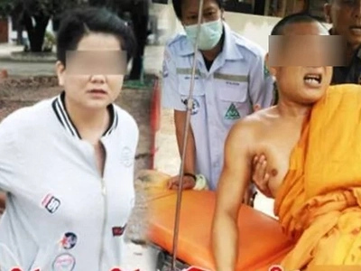 Woman shot a monk who has secretly impregnated her and forced to make an abortion
