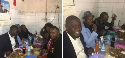 Uhuru Kenyatta goes for lunch at an ordinary Nairobi food kiosk (photos)