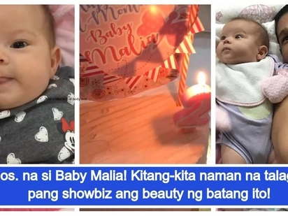 Artistahin talaga! Pokwang's daughter Malia Francine turns 2 months old