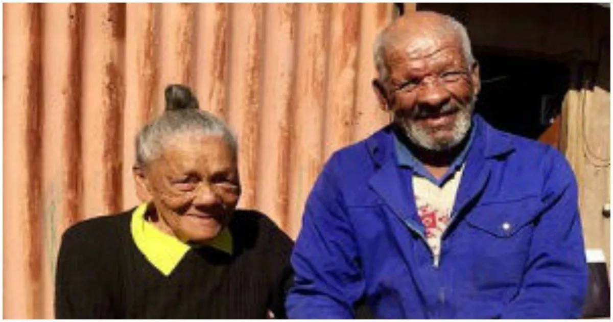 Elderly couple receives government housing after living in metal shack for 50 years