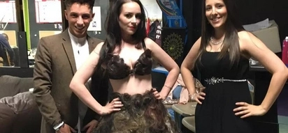 PHOTOS: Would you wear a dress made of pubic hair? Check this out