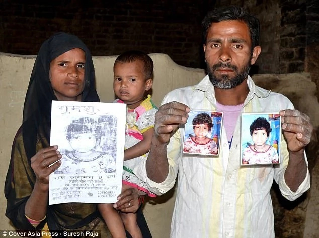 Couple come forward to claim Indian girl found living with monkeys as their missing daughter (photos)