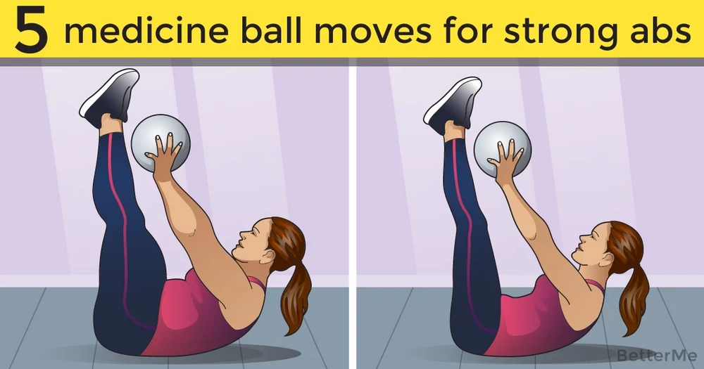 5 medicine ball moves for strong abs