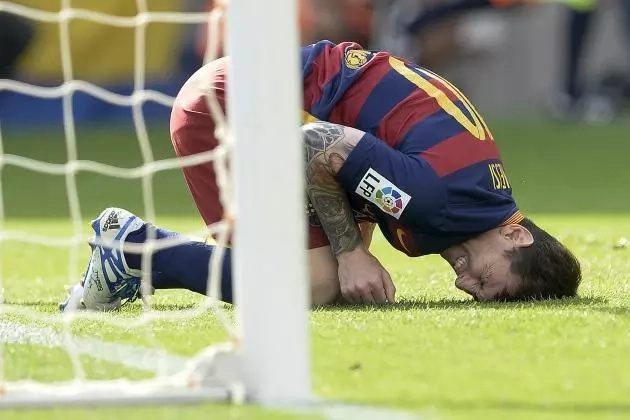 Lionel Messi succumbs to groin injury