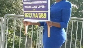 Desperate and jobless beautiful woman captures Kenyans attention