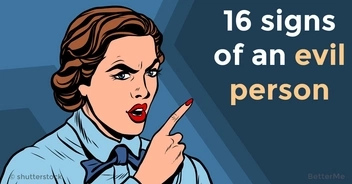 16 signs a person is evil