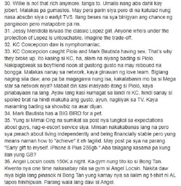 Totoo kaya o gawa-gawa lang? Facebook page exposed alleged deep secrets of Pinoy Celebrities