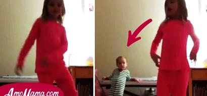 Mamá dejó a su hija de cinco años con una bebé de 18 meses, ¡luego revisó las cámaras y se dio cuenta de lo que hicieron!
