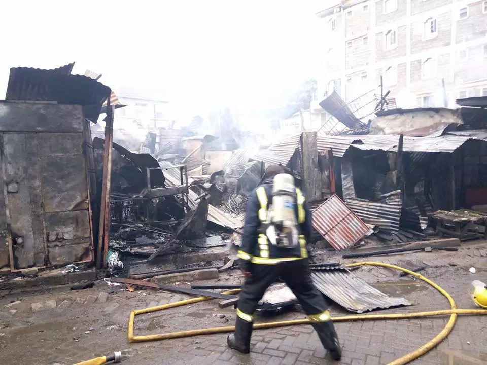 Huge fire destroys property in Kahawa Wendani estate