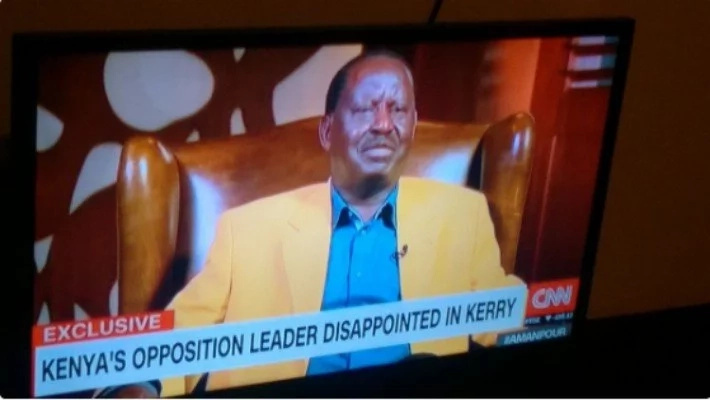 Elections are flawed and observers remarks are cosmetic-Raila tells CNN