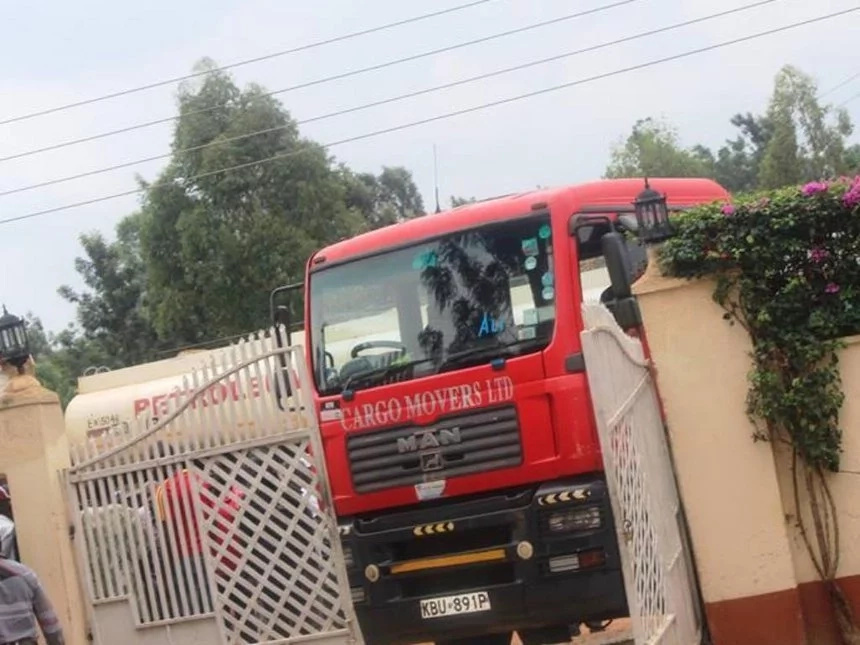 Truck smashes into venue of Ababu Namwamba's meeting in Teso