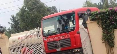 Truck crashes into venue of Ababu Namwamba's meeting