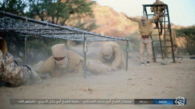 Baffling! ISIS recruits brutally kicked in their groins during exercise captured in propaganda footage