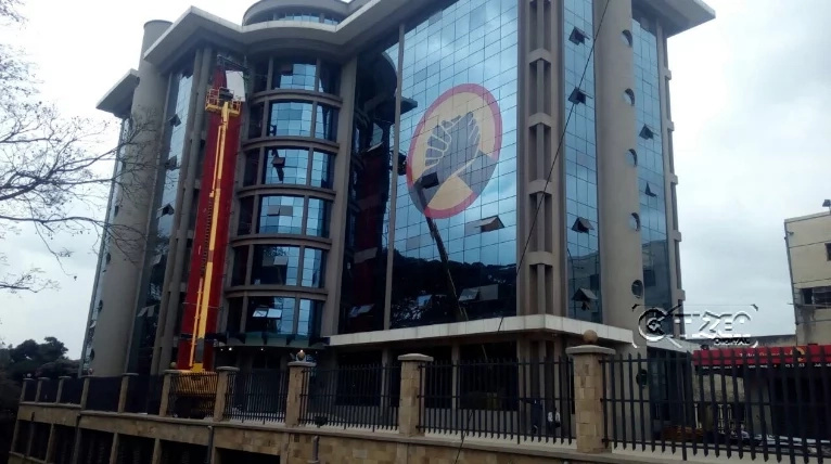 A coffin outside Jubilee Party offices leaves tongues wagging