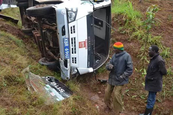 35 pupils escape narrowly in accident while en route to Nairobi