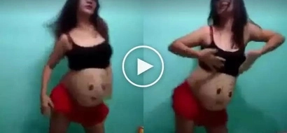 Pregnant woman dancing #TrumpetsChallenge will make you wanna say WTF?!