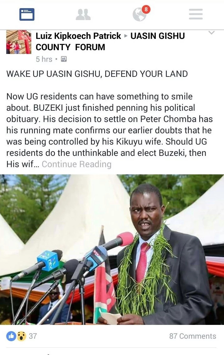 Uasin Gishu governor spews tribal politics on vernacular radio station