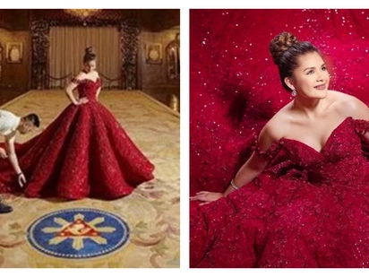 Isabelle Duterte's debutante photoshoot in Malacañang draws flak, Palace defends