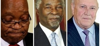 Where's Zuma? Mbeki and De Klerk show up to Sona but there's no sign of Zuma