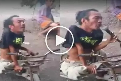 A video of a singing 'disabled man' has gone viral; his voice will amaze you!