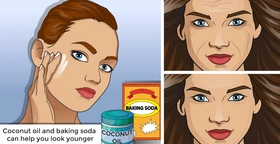 Coconut oil and baking soda can help you look younger