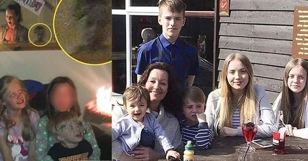Little girl's birthday party turns into something very creepy after seeing a picture taken on the day