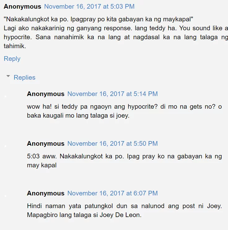 'Kahit isang araw lang, kahit ngayon lang..' Is Teddy Corpuz responding to deleted tweet of Joey De Leon?