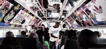 Matatu passenger does the unimaginable after 'konda' disappears with his change (photos)