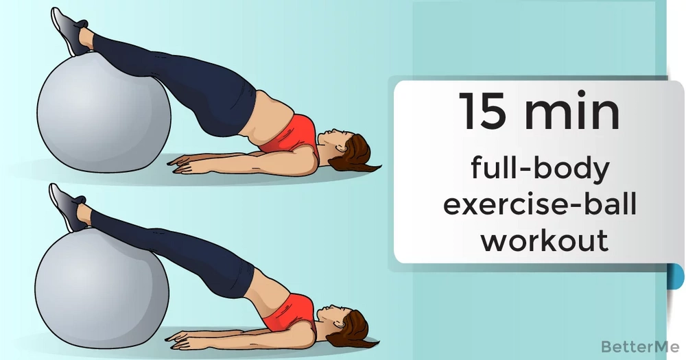 15-minute full-body exercise-ball workout