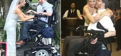 Not even accident could stop their love! Lovely young couple marries 9 months after groom was paralyzed