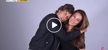 Naughty and nice couple Solenn Heussaff and Nico Bolzico imitate each other in the most hilarious way