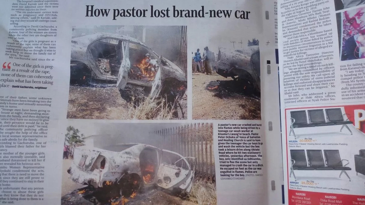 Pastor's car burns despite church members praying for it