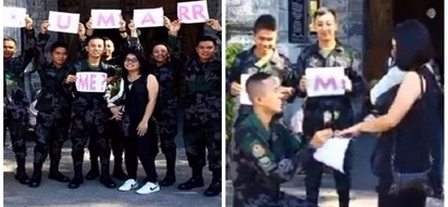 Supportive na mga kaibigan! Cops help friend on marriage proposal in Bacolod