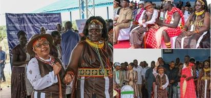 Bi Margaret Kenyatta apendeza mno kwa vazi lake katika tamasha za kitamaduni, Turkana