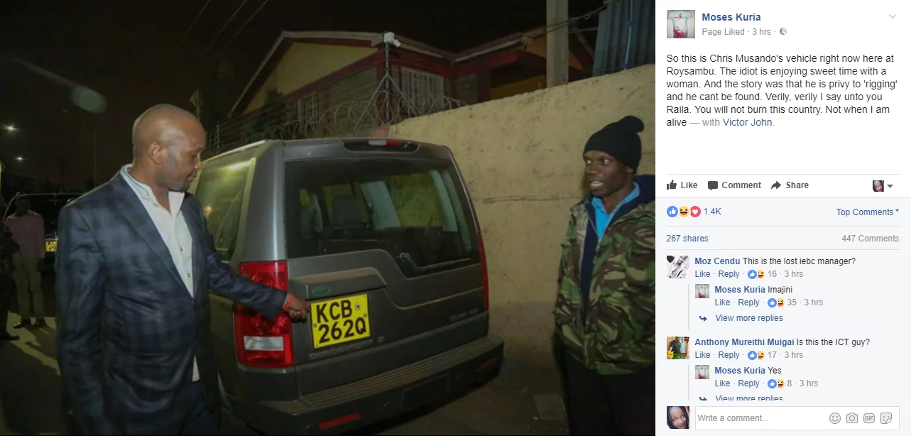 BREAKING: Missing IEBC ICT manager found dead