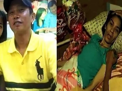 Loving Pinoy husband's romantic Valentine's Day date with bedridden wife will make you cry!