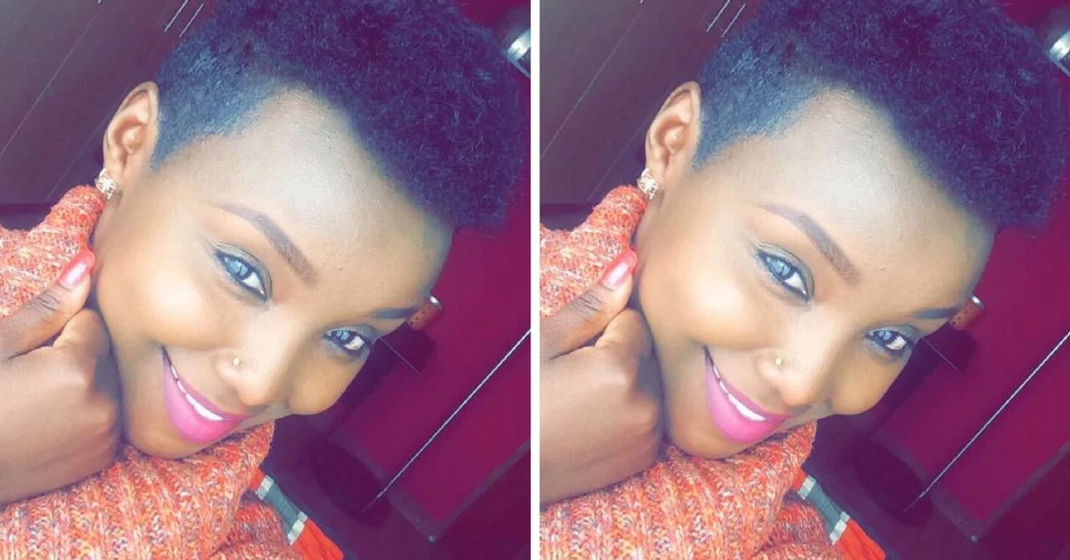 Kenyan TV girl cuts her hair, she looks so freaking cut