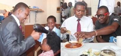 PHOTOS: Governor Alfred Mutua Eats At A Kibanda, Does Other Cool Things With Locals