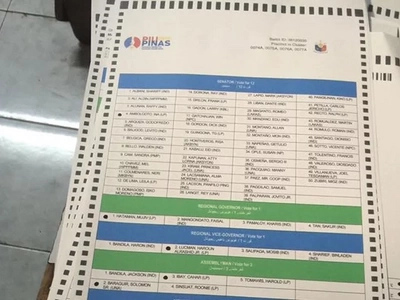 Pre-shaded ballots found in Maguindanao