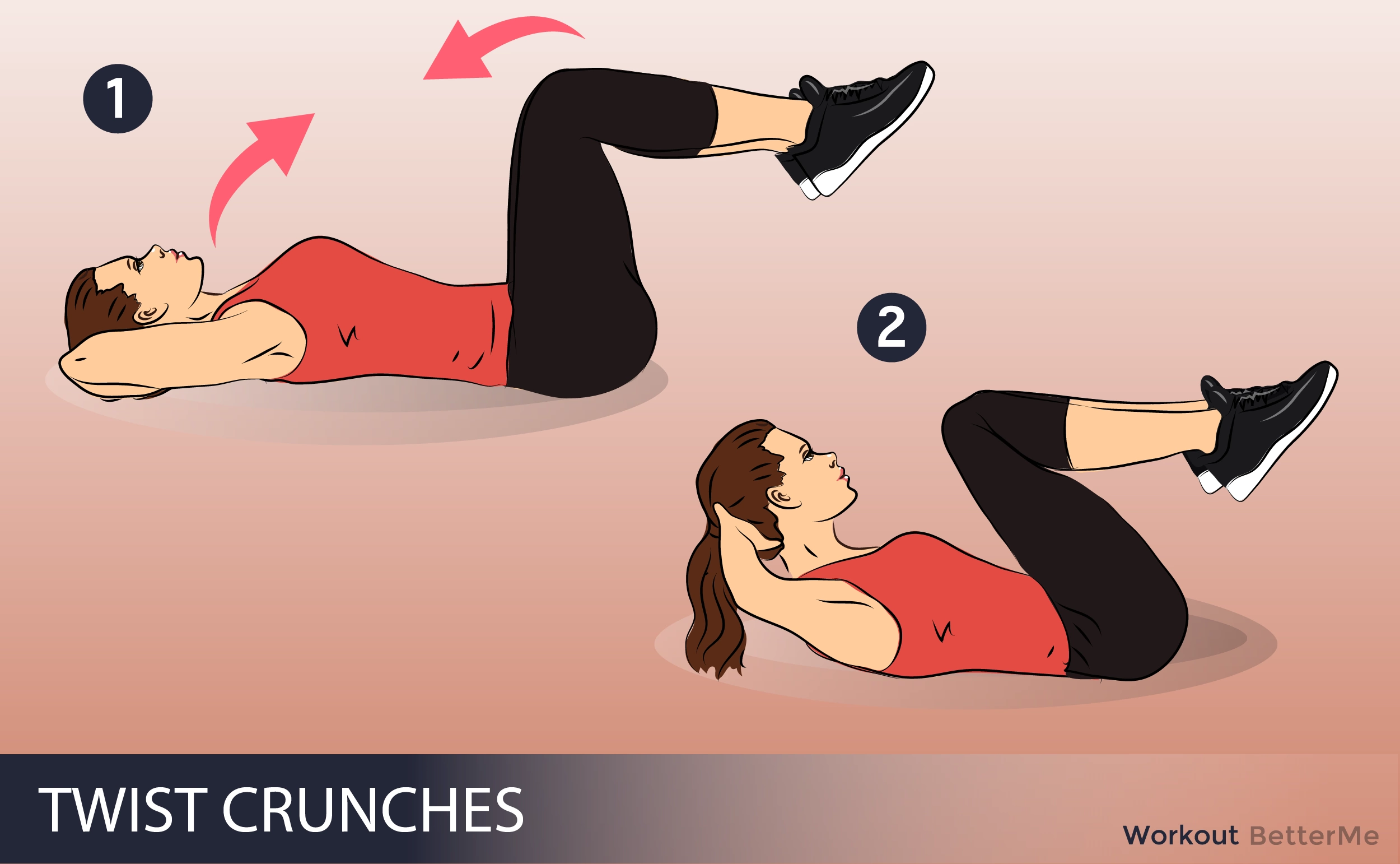 #10. Knee to elbow crunch