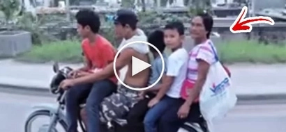 The whole Cebuan family spotted riding only 1 motorcycle! You'll be amazed, seeing this viral video!