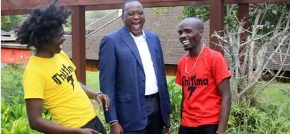 President Uhuru does the 'Thitima' and it's the most hilarious thing ever