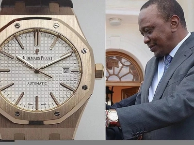 Thamani ya saa 6 za mkono za Rais Uhuru Kenyatta inashangaza (picha)